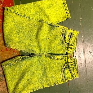 Vintage high waisted neon mom jeans